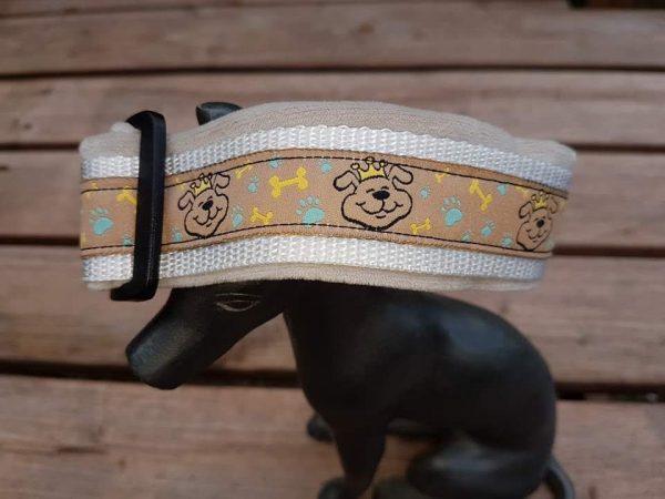Prinzenhalsband weiss-beige