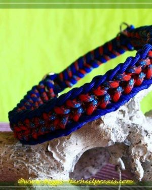 Hundehalsband aus Paracord Electric Blue/Jeans