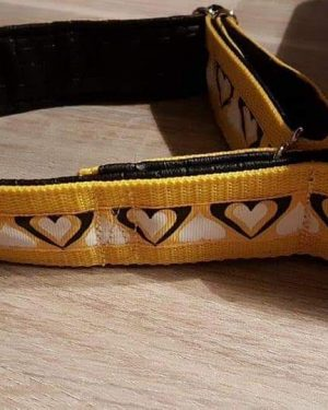 Zugstopphalsband Gelb Herz
