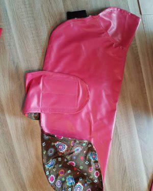 Hundemantel regenfest rosa