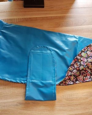 Hundemantel regenfest blau