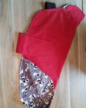 Hundemantel Regen rot 68 cm