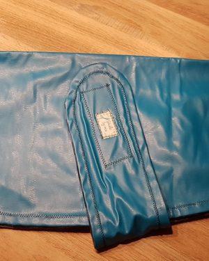 Hundemantel regenfest blau Karos