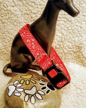 Hundehalsband Blumentraene Rot