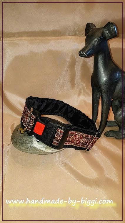 Hundehalsband Herzkreis Rot Schwarz (1)